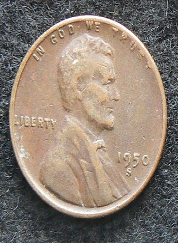 1950 S Lincoln Wheat Cent (VF-30)