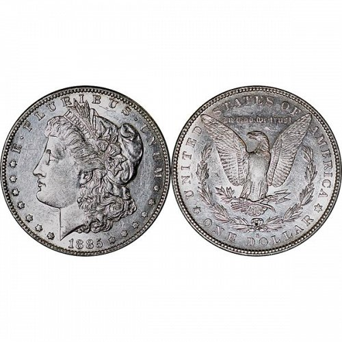 1885 S Morgan Silver Dollar - AU