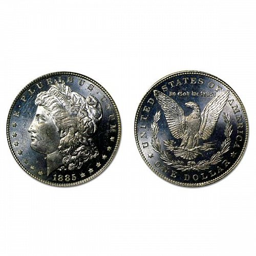 1885 Morgan Silver Dollar - MS63+ - Proof Like
