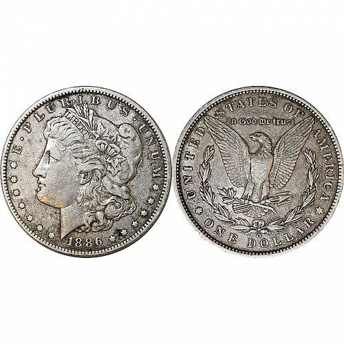1886 O Morgan Silver Dollar - XF