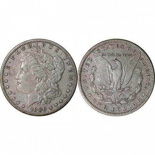 1886 S Morgan Silver Dollar - XF