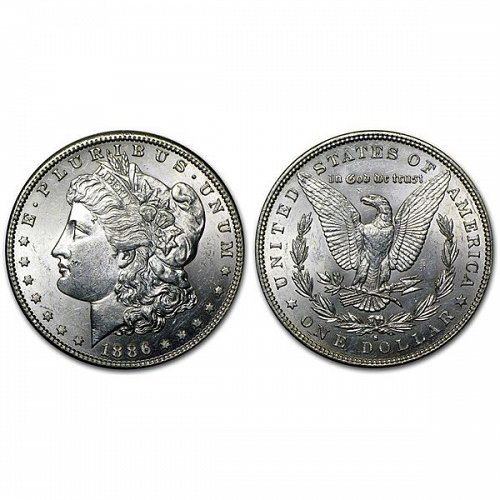 1886 S Morgan Silver Dollar - BU