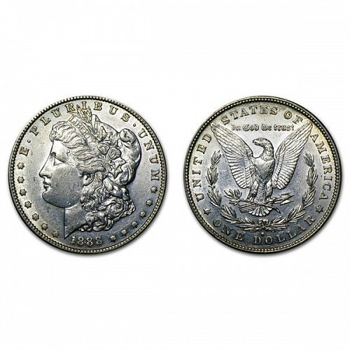 1888 S Morgan Silver Dollar - AU