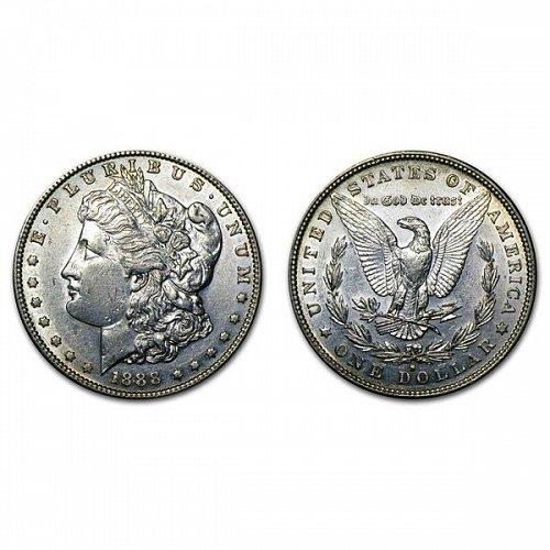 1888 S Morgan Silver Dollar - AU