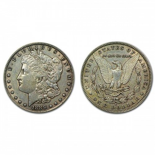 1888 S Morgan Silver Dollar - XF