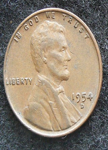 1954 D Lincoln Wheat Cent (F-12)