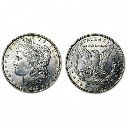 1889 Morgan Silver Dollar - BU