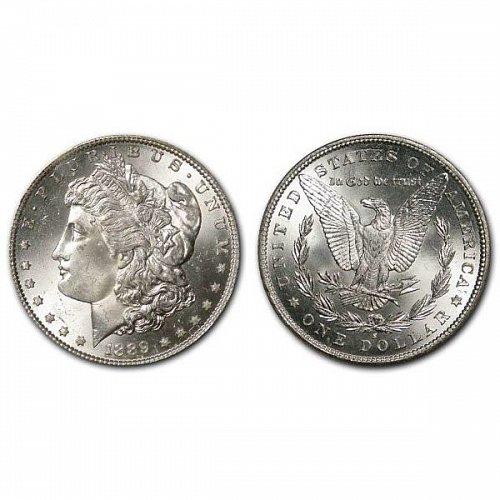 1889 S Morgan Silver Dollar - BU