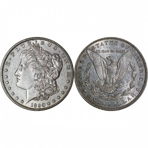 1890 Morgan Silver Dollar - AU