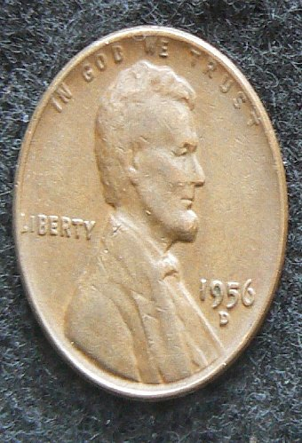 1956 D Lincoln Wheat Cent (F-12)