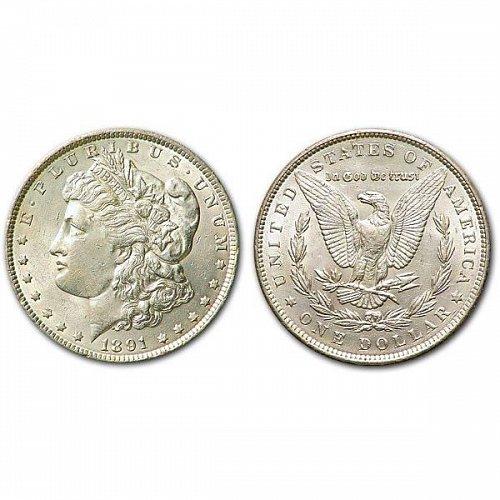1891 Morgan Silver Dollar - AU