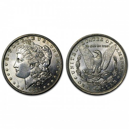 1891 O Morgan Silver Dollar - BU