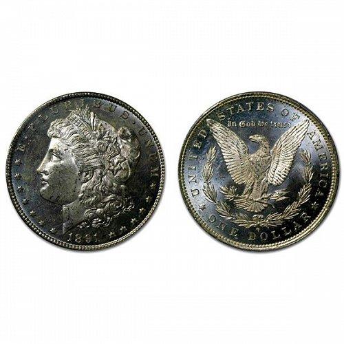 1891 O Morgan Silver Dollar - MS63+ - Proof Like