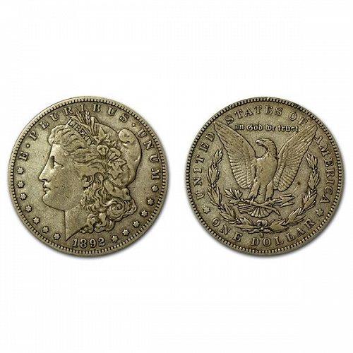 1892 S Morgan Silver Dollar - VF