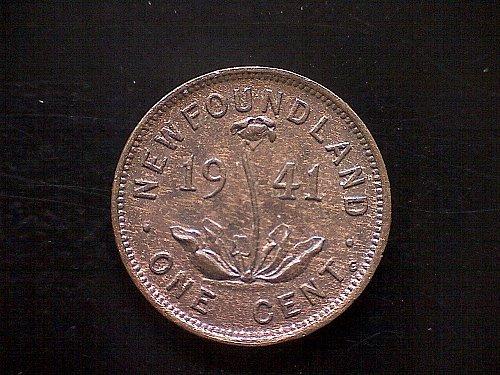 "1941 NEWFOUNDLAND - CANADA - KING GEORGE V1 ""SMALL CENT"""