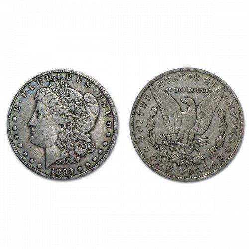 1893 O Morgan Silver Dollar - VF