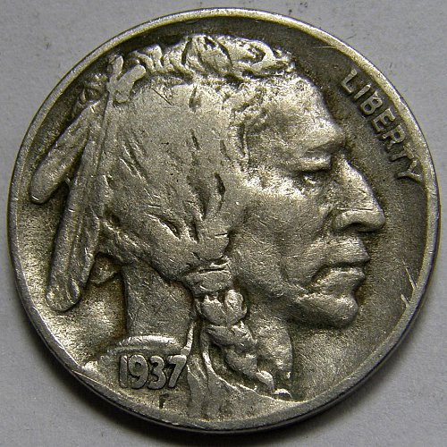 1937 D Buffalo Nickel #1  RPM-003
