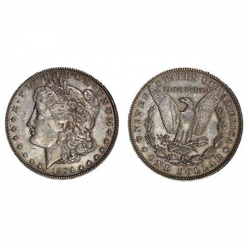 1894 O Morgan Silver Dollar - XF