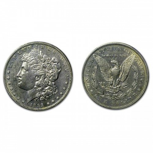 1895 S Morgan Silver Dollar - AU