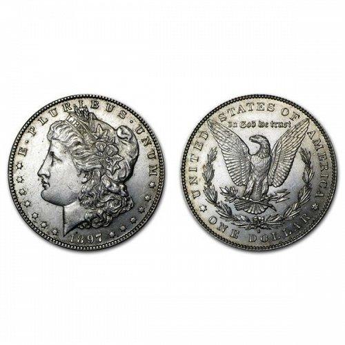1897 S Morgan Silver Dollar - BU