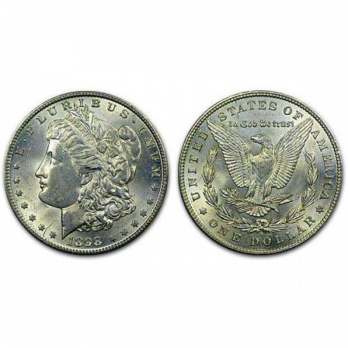 1898 S Morgan Silver Dollar - BU