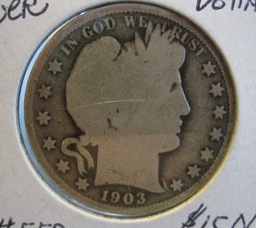 1903-O 50 CENT, BARBER HALF DOLLAR