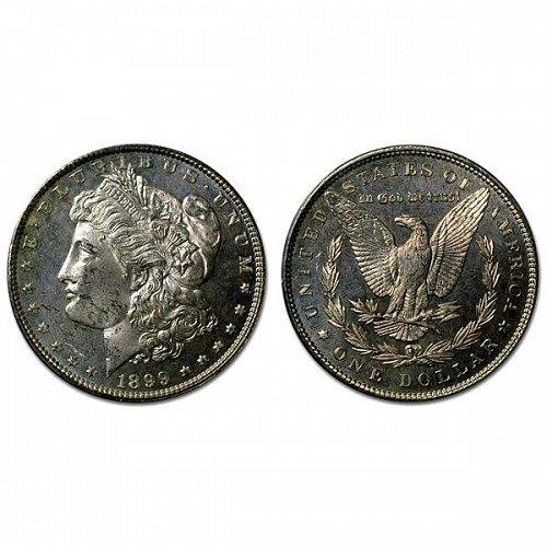 1899 Morgan Silver Dollar - MS63+ - Proof Like