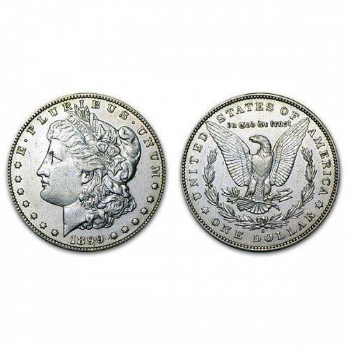 1899 S Morgan Silver Dollar - AU