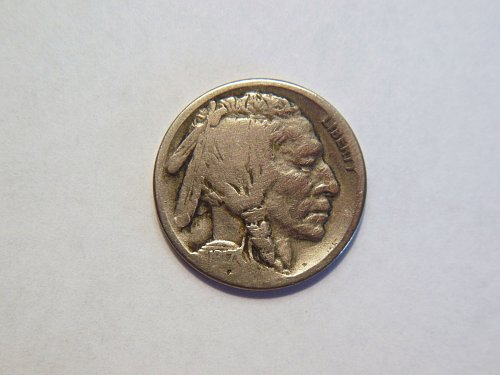 1917-S Buffalo Nickel.