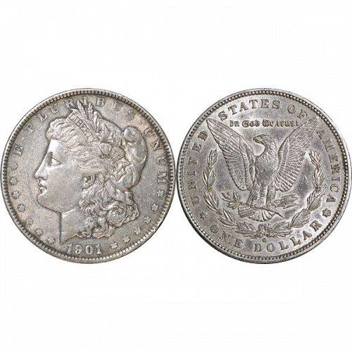 1901 O Morgan Silver Dollar - AU