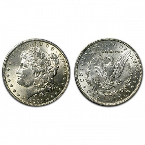 1901 O Morgan Silver Dollar - BU