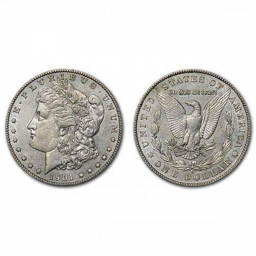 1901 S Morgan Silver Dollar - AU