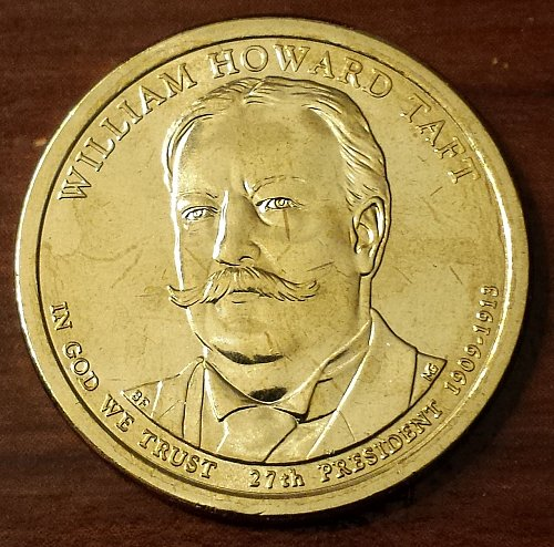 2013-D William Howard Taft Presidential Dollar - From Mint Roll (5952)