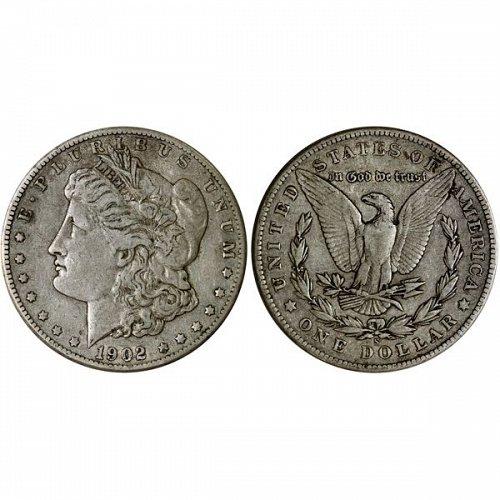 1902 S Morgan Silver Dollar - VF