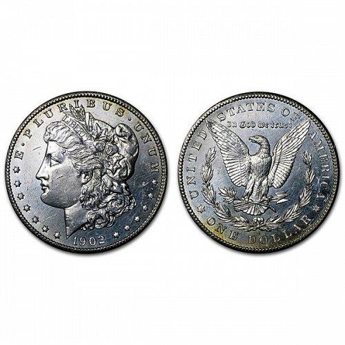 1902 S Morgan Silver Dollar - BU