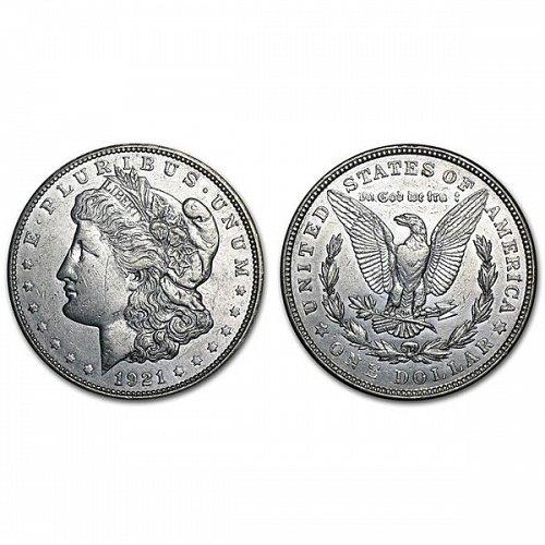 1921 D Morgan Silver Dollar - AU