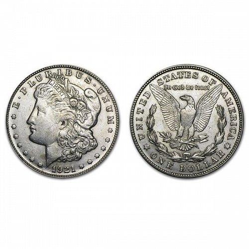 1921 S Morgan Silver Dollar - AU