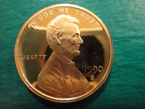 1990-S Lincoln Cent Proof-66 (GEM+)