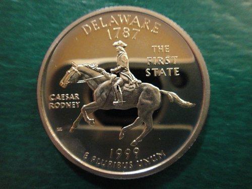 Statehood Quarter 1999-S Delaware Clad Proof-65 (GEM)