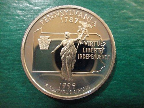 Statehood Quarter 1999-S Pennsylvania Clad Proof-66 (GEM+)