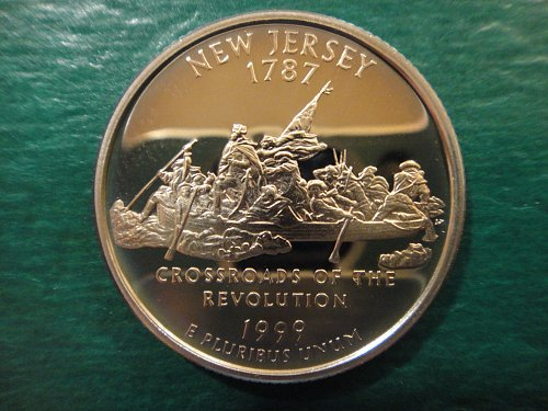Statehood Quarter 1999-S New Jersey Clad Proof-65 (GEM)