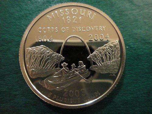 Statehood Quarter 2003-S Missouri Clad Proof-66 (GEM+)