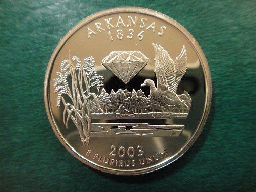 Statehood Quarter 2003-S Arkansas Clad Proof-66 (GEM+)