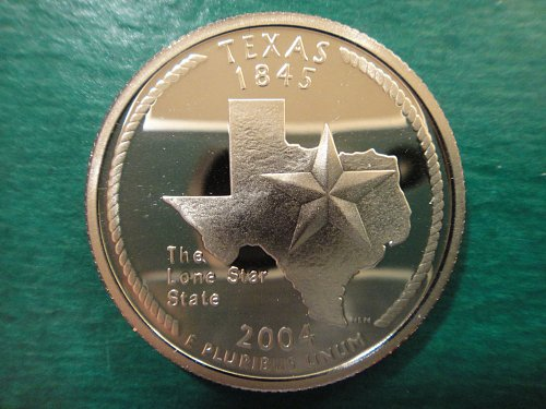 Statehood Quarter 2004-S Texas Clad Proof-66 (GEM+)