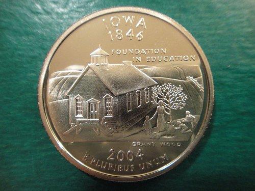Statehood Quarter 2004-S Iowa Clad Proof-65 (GEM)