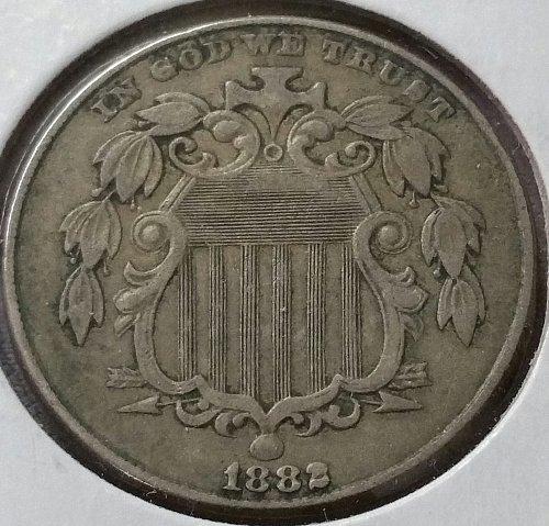 1882 Shield Nickel ~ XF