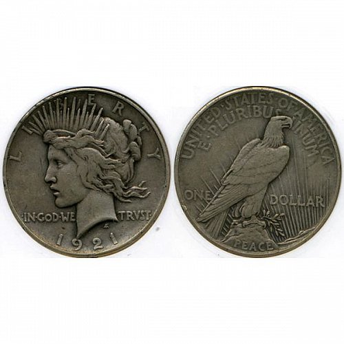 1921 Peace Silver Dollar - XF