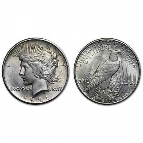 1921 Peace Silver Dollar - BU