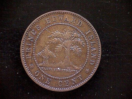 1871 PRINCE EDWARD ISLAND - CANADA -  QUEEN VICTORIA LARGE BRONZE CENT