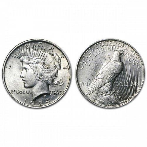 1924 Peace Silver Dollar - BU